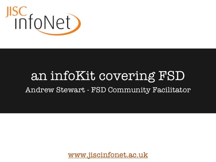 An infoKit covering FSD