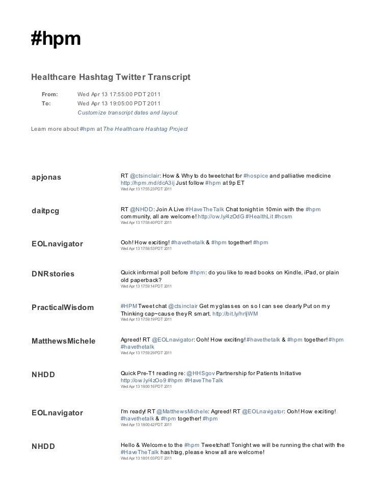 2011 04 13 hpm tweetchat transcript