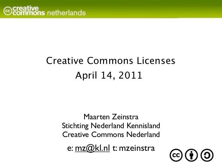 Creative Commons presentation