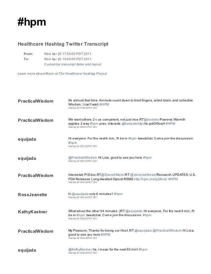 2011 04 20 hpm tweetchat transcript