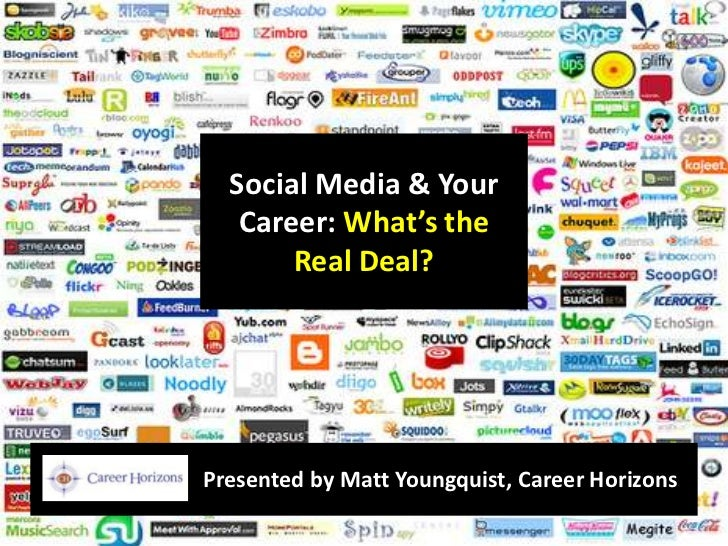 Social Media & Your Career: What's the Real Deal?<br />Presented by Matt Youngquist, Career Horizons<br />