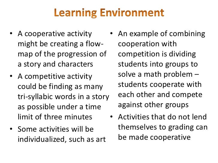 appropriate classroom environment essay By using research-based strategies combining appropriate levels of dominance and cooperation and an awareness of student needs, teachers can build positive classroom.