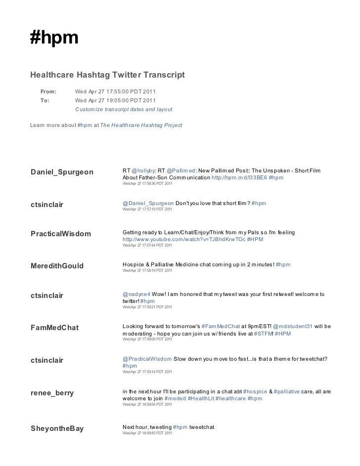 2011 04 27 hpm tweetchat transcript