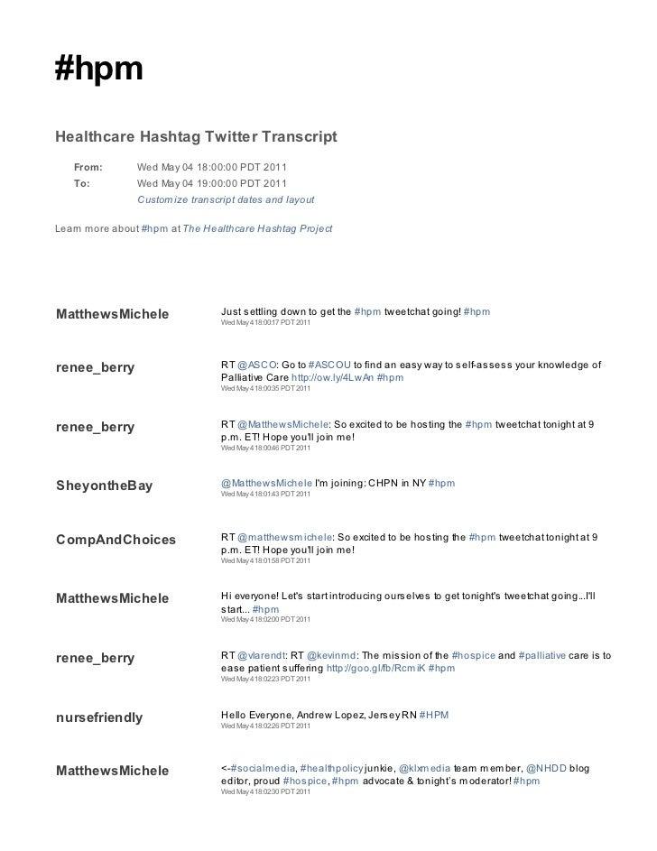 2011 05 04 hpm tweetchat transcript