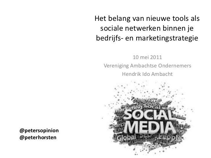 Nieuwe tools en sociale media: Wat u er mee kan en mee moet