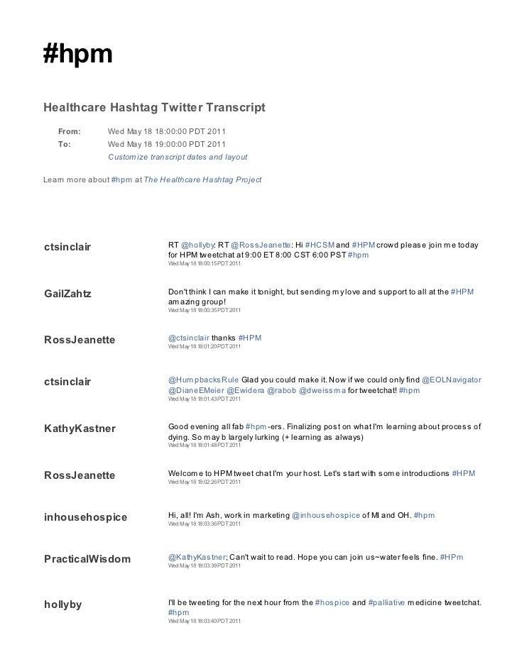 2011 05 18 hpm tweetchat transcript