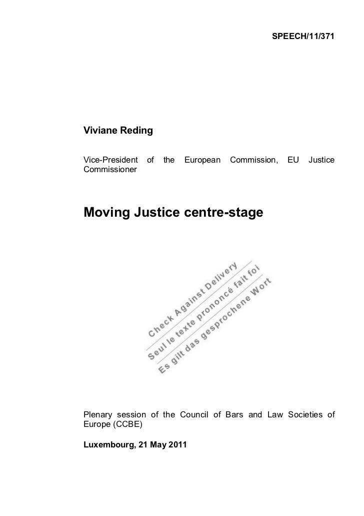 2011 05 21 discours de Reding au ccbe