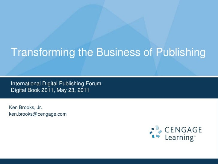 Transforming the Business of Publishing