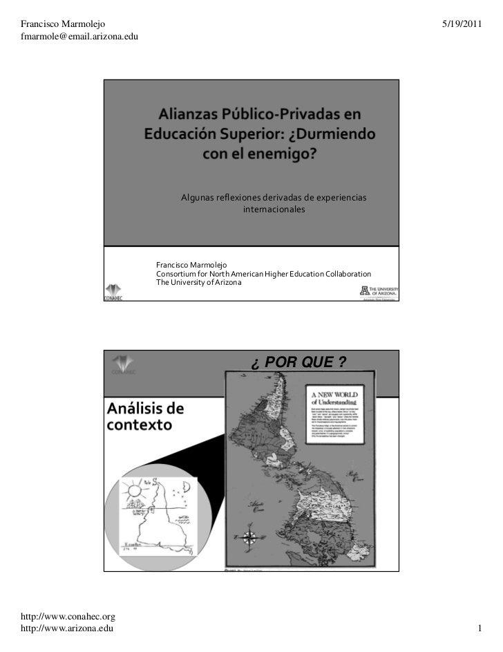 Francisco Marmolejo                                                                         5/19/2011fmarmole@email.arizon...