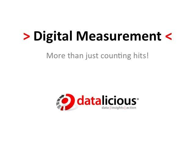 > Digital Measurement <      More than just coun.ng hits!