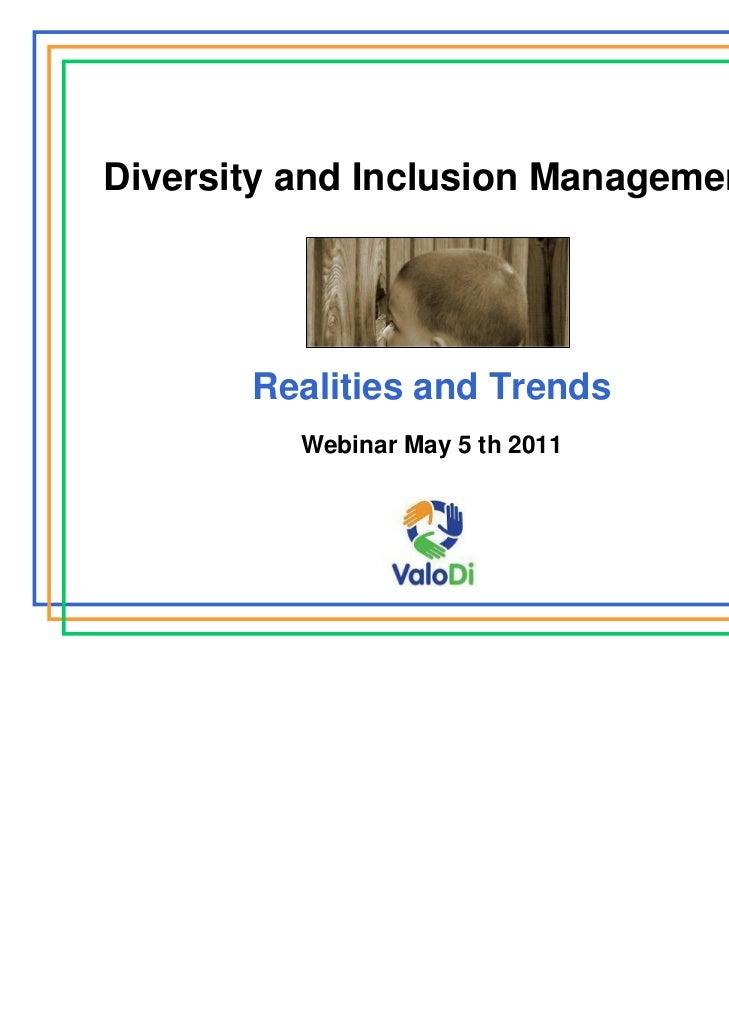 2011 05 D&I Management_UM webinar