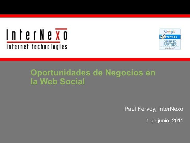 Oportunidades de Negocios en la Web Social