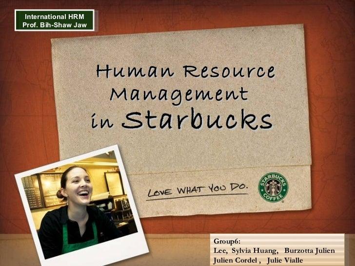 Human Resource Management in Starbucks