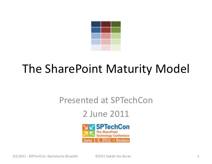 The SharePoint Maturity Model - as presented 2 June 2011 at SPTechCon Boston