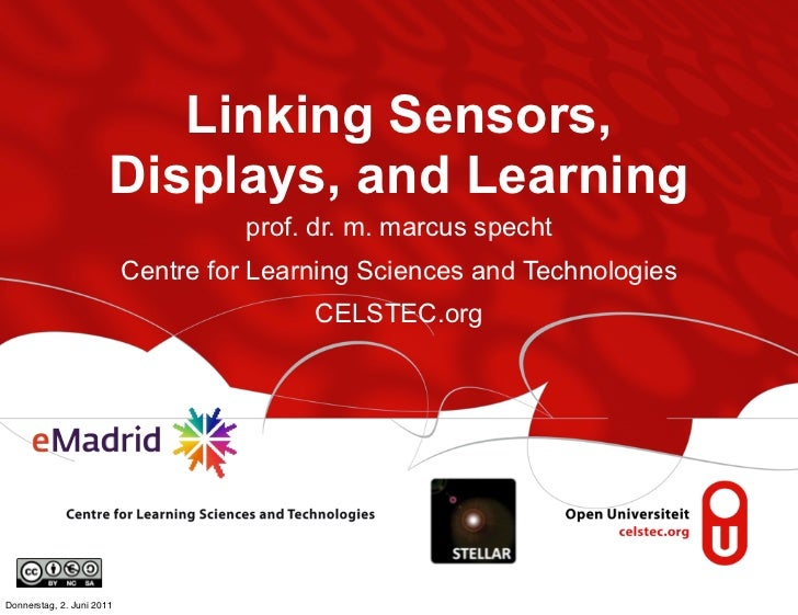 Linking Sensors,                       Displays, and Learning                                     prof. dr. m. marcus spec...