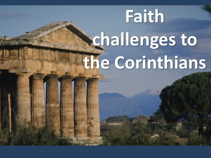 Faith challenges to the Corinthians<br />