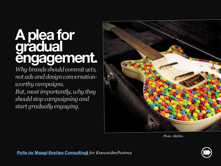 A plea for                       gradual                       engagement.                       Why brands should commit ...
