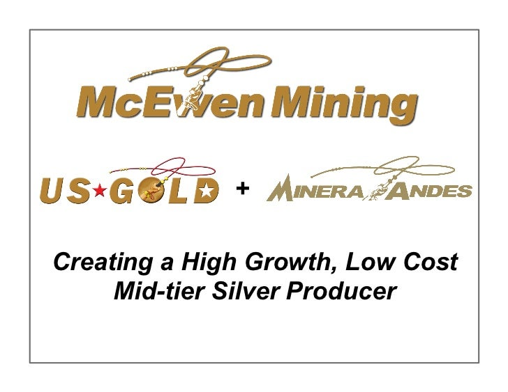 +Creating a High Growth, Low Cost     Mid-tier Silver Producer                                   1