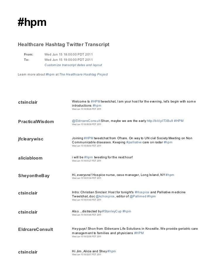 2011 06 15 hpm tweetchat transcript