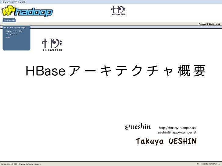 HBase  Presentation                                                   Presented: 06/16/2011  HBase    HBase               ...