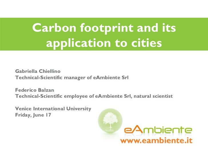 Carbon footprint and its application to cities