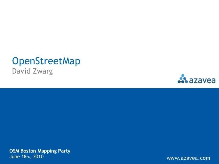 OpenStreetMap Mapping Party - Boston