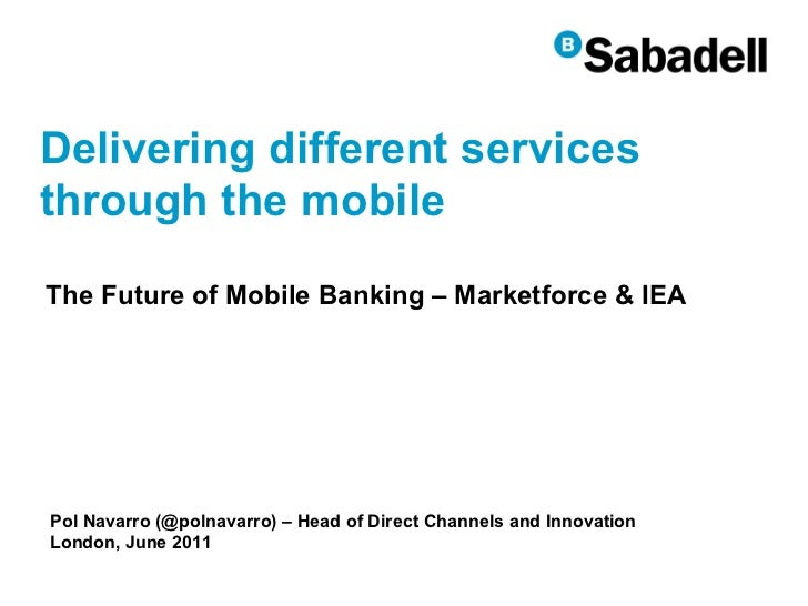 Delivering different services through the mobile