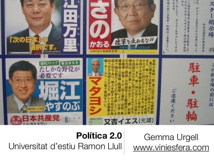 Política 2.0 - comunicació política, periodisme i mitjans
