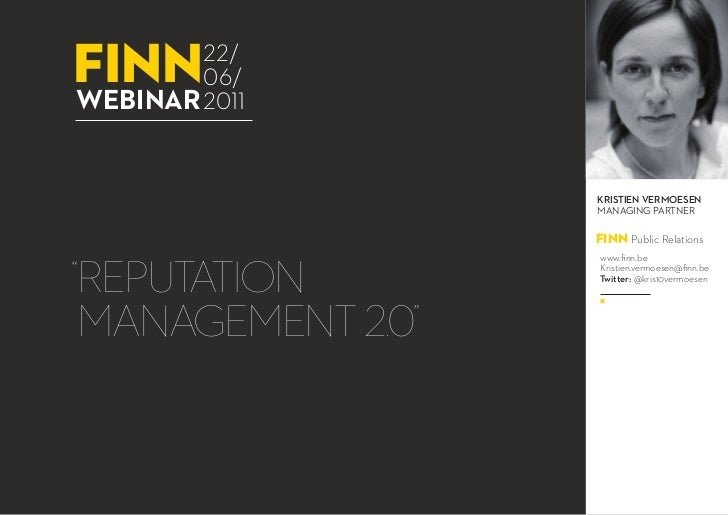 finn    22/        06/webinar 2011                   Kristien vermoesen                   Managing Partner                ...