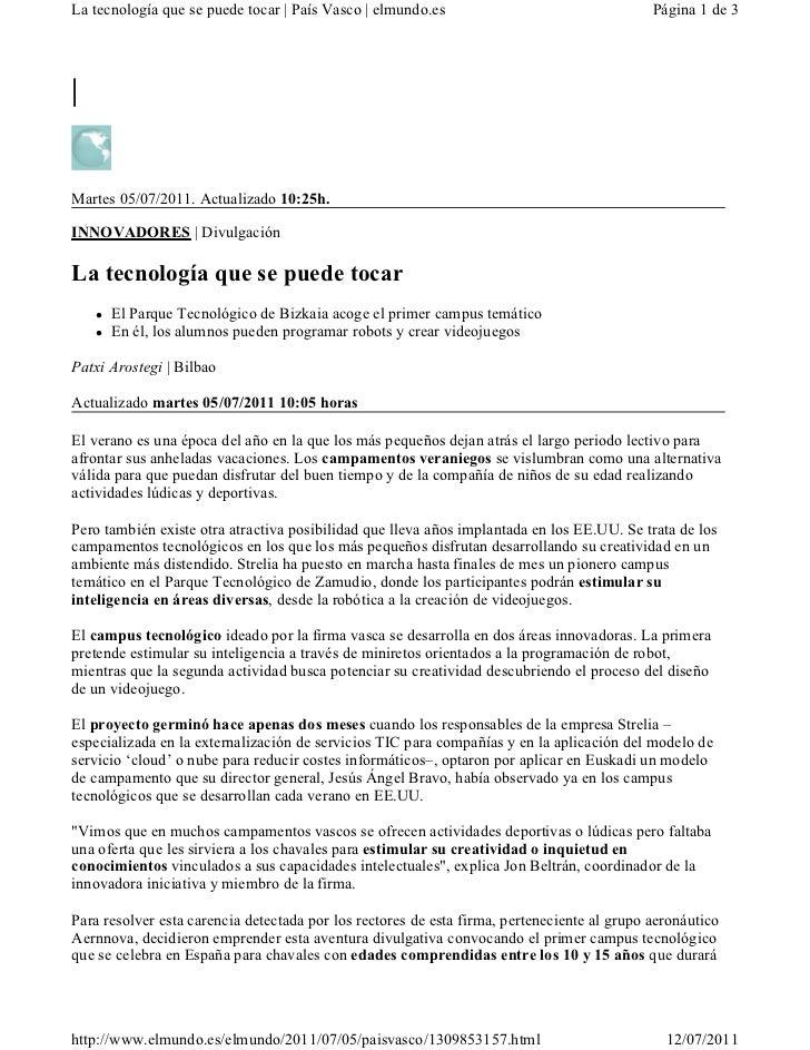 La tecnología que se puede tocar | País Vasco | elmundo.es                                   Página 1 de 3|Martes 05/07/20...