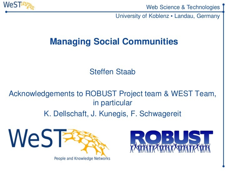 Managing Social Communities
