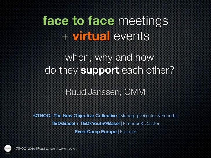 20110706 ruud janssen_#ISRMP Gdansk_presentation Virtual and Live events