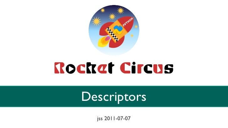 Descriptors  jss 2011-07-07