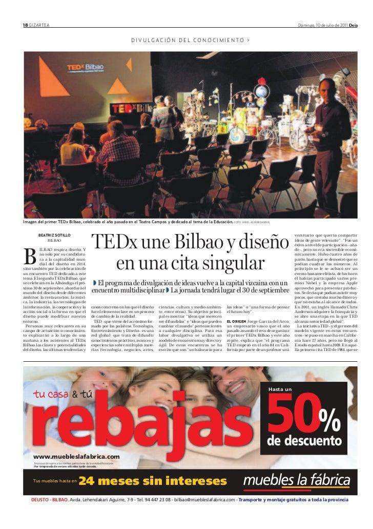 Tedx une Bilbao y diseño en una cita singular