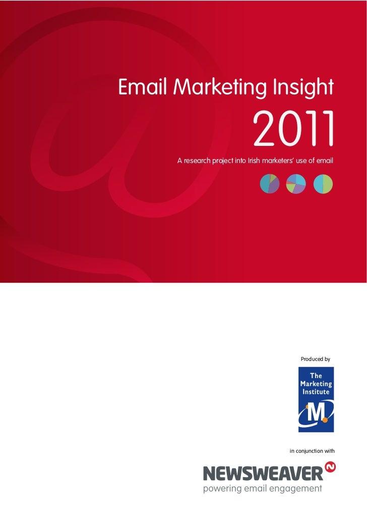 Newsweaver Email Marketing Insight Report 2011