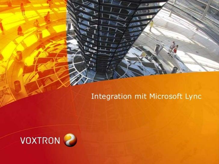 Integration mit Microsoft Lync