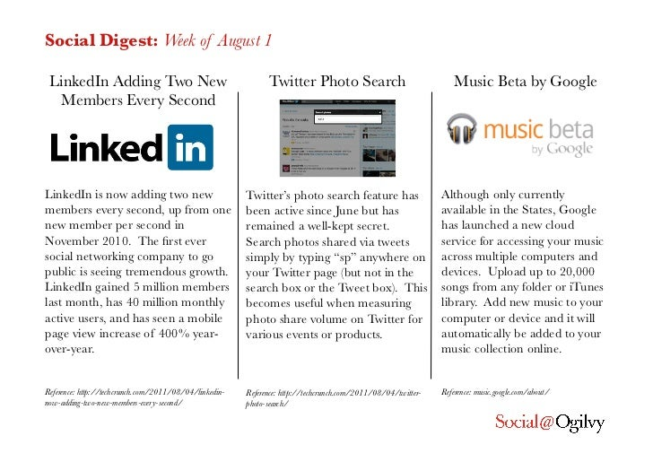 Social Digest: Week of August 1 LinkedIn Adding Two New                                      Twitter Photo Search         ...