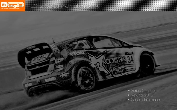 2012 Series Information Deck!                                Series Concept!                                New for 2012! ...