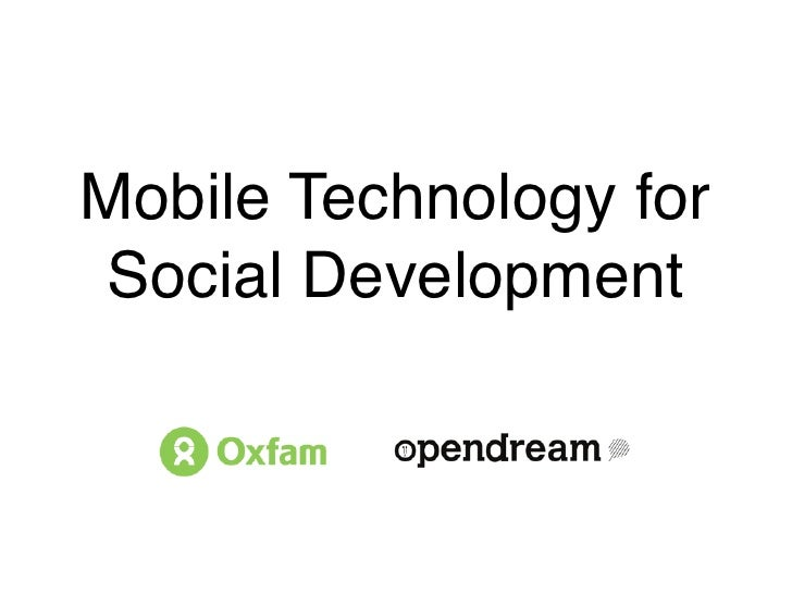 Mobile Technology forSocial Development