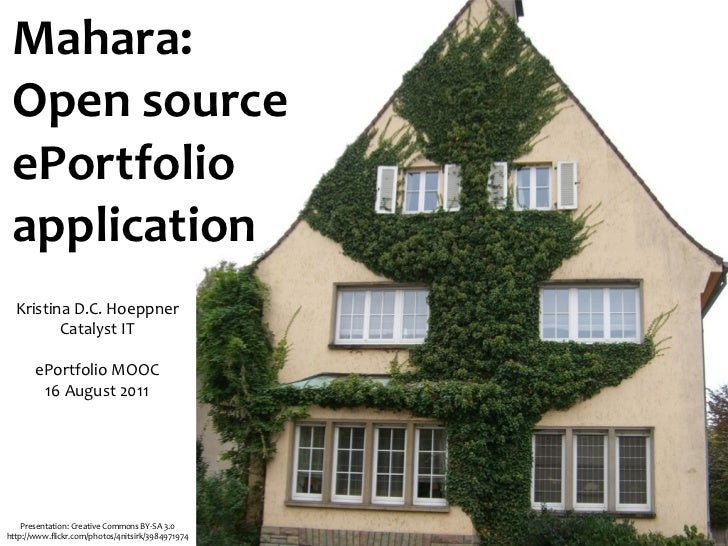 Mahara: Open source ePortfolio application