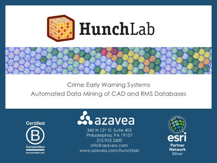 Crime Early Warning: Automated Data Mining of CAD and RMS
