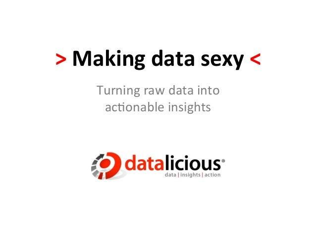 Making Data Sexy