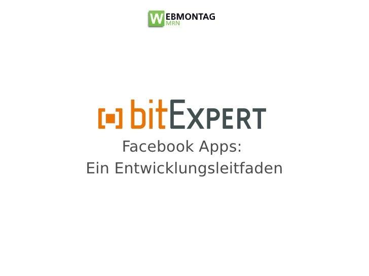 Facebook Apps: Ein Entwicklungsleitfaden - WMMRN