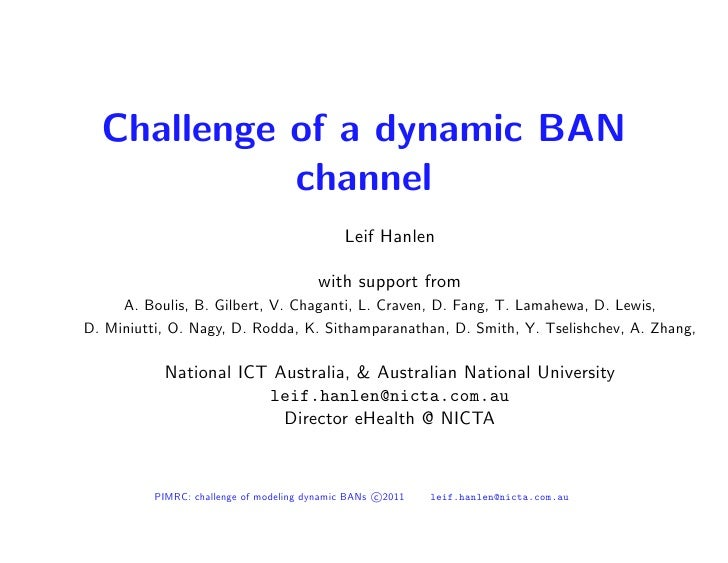 Challenge of Dynamic Body Area Networks