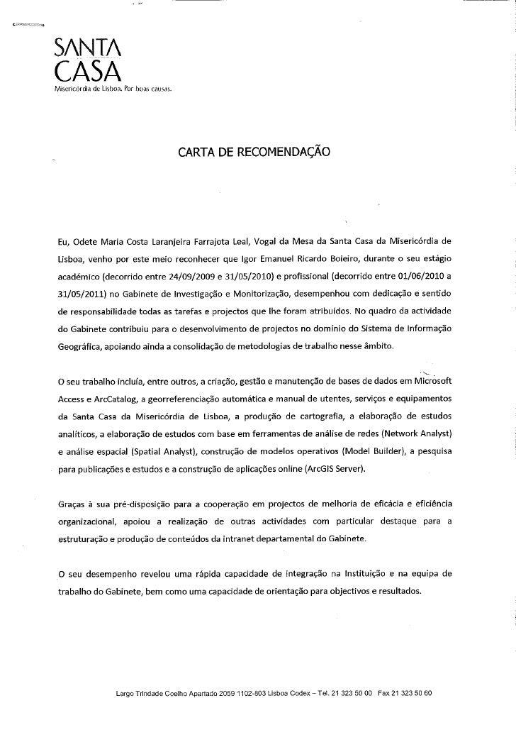 Carta de apresentacao em ingles