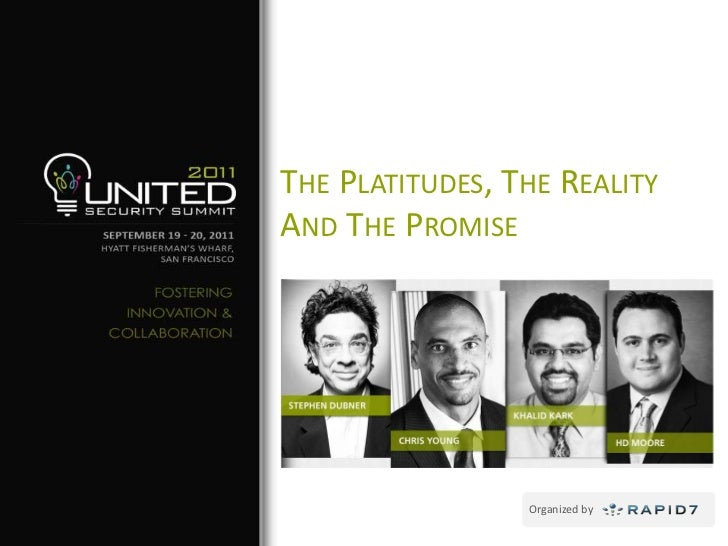 The Platitudes, The Reality And The Promise<br />
