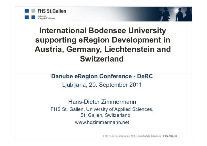 International Bodensee University supporting eRegion Development in  Austria, Germany, Liechtenstein and Switzerland