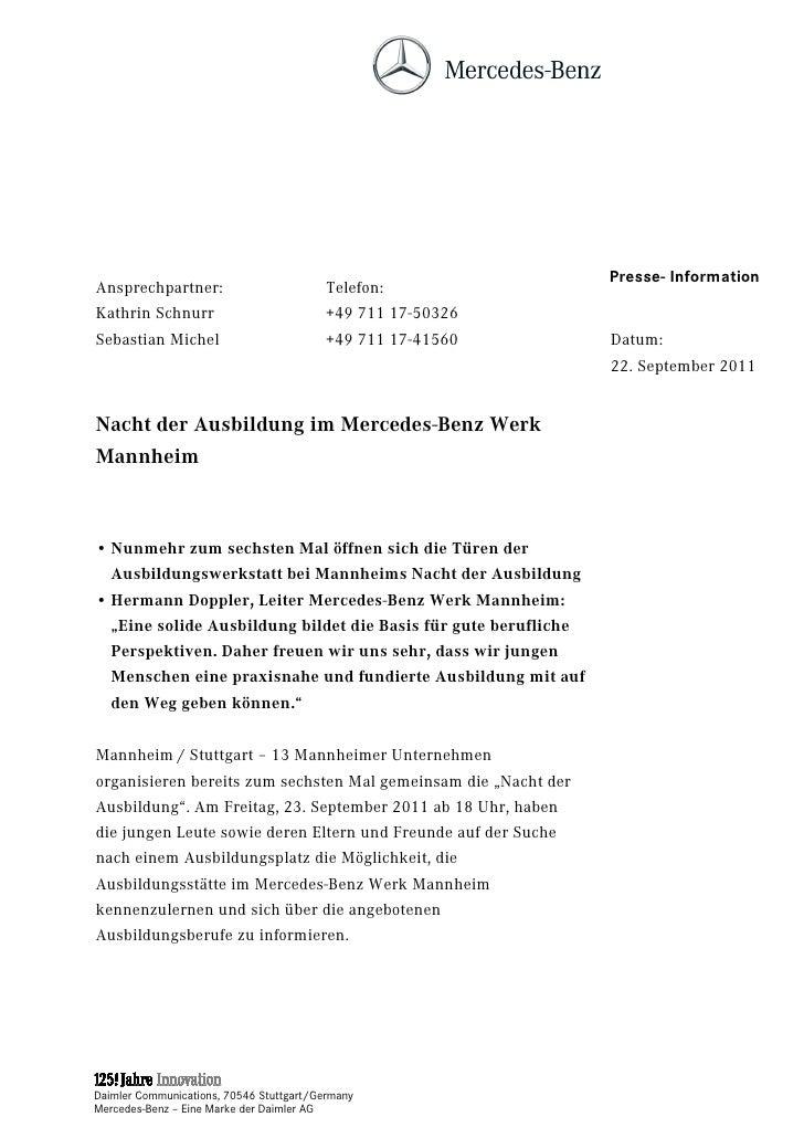 Presse- InformationAnsprechpartner:                          Telefon:Kathrin Schnurr                           +49 711 17-...