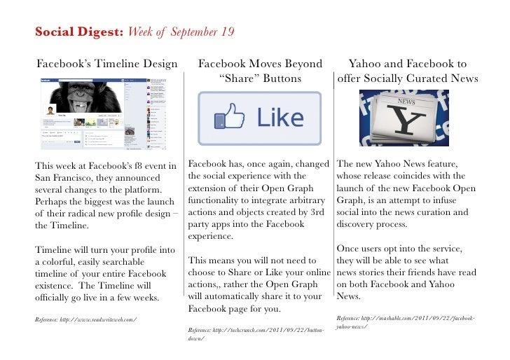 Social Digest: Week of September 19Facebook's Timeline Design                   Facebook Moves Beyond                     ...