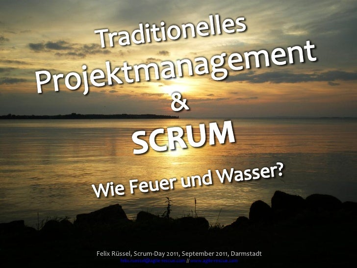 Traditionelles Projektmanagement und SCRUM